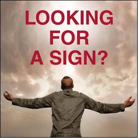 looking for a sign blog